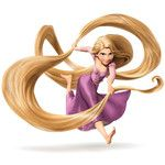 Disney TANGLED RAPUNZEL with long hair picture Tangled