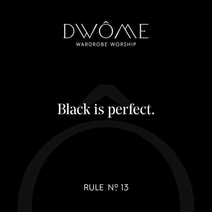 Wardrobe Worship: Black is perfect.