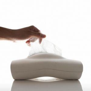 """porta pañuelos de papel """"momo"""" de color blanco, diseñado por chaiyut plypetch €17.95"""