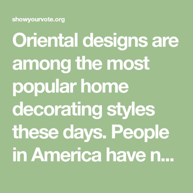 Oriental designs are among the most popular home decorating styles these days. People in America have now embraced Oriental home decors and other crazes because they are usually well-crafted and they appear more luxurious. One particular exotic décor that's becoming more and more popular are Oriental dividers.