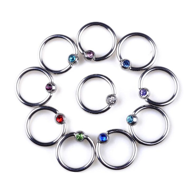 1PC Goth Punk Clip On Fake Piercing Body Nose Lip Rings Hoop Ear Tongue Ring Stainless Steel Body Jewelry