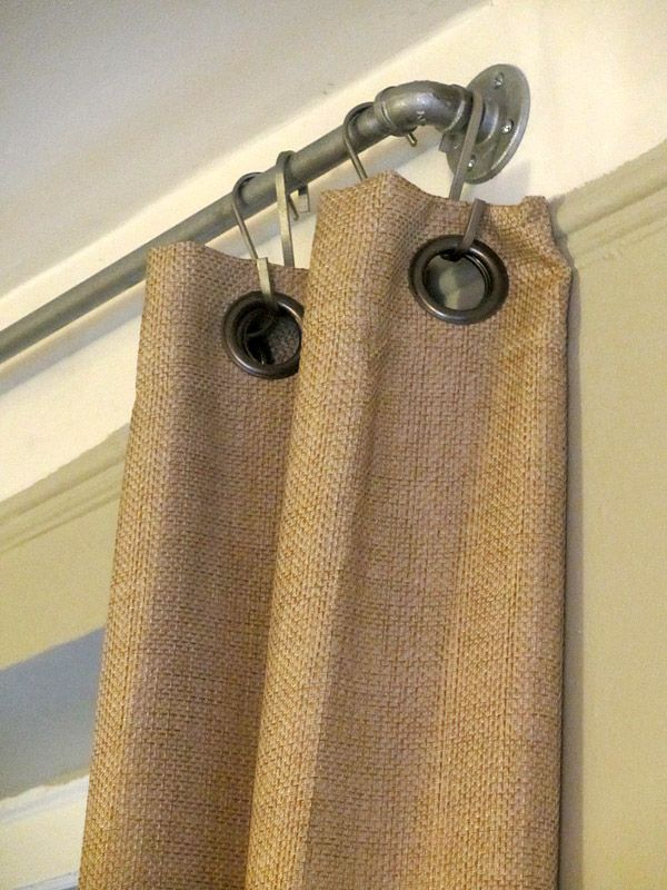 DIY Projects with Pipe! • Great Ideas and Tutorials! Including, from 'something we whipped', these West Elm inspired DIY industrial curtain rods.