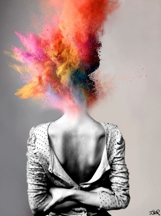 Art Black and White Color Explosion Deep Meaningful Imagination Photo Photography Painting Emotional
