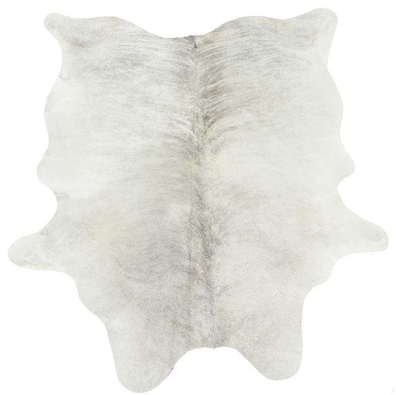 Gray And White Cowhide Rug By Thecowpelt