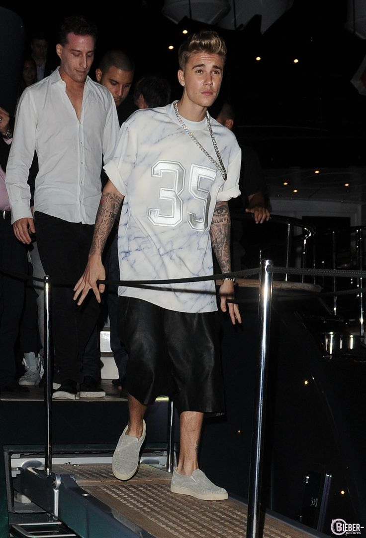 Video: Justin Bieber With Barbara Palvin And Roberto Cavalli Yacht Party in Cannes