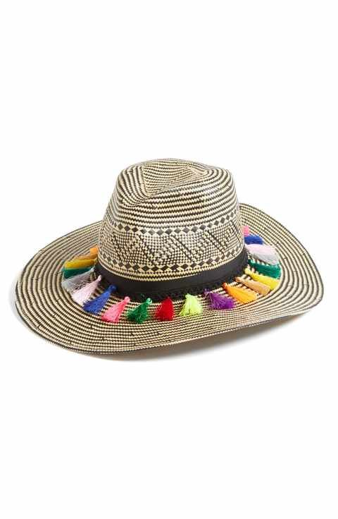 a9b3ce09 Brooklyn Hat Co Playa Tassel Woven Safari Hat | clothes, shoes ...