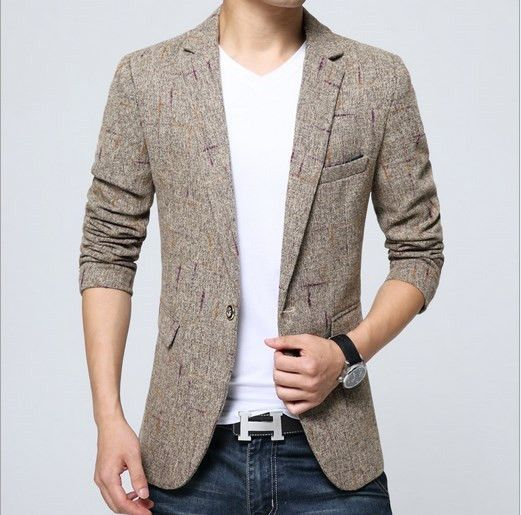 Vintage Fancy Suit Jacket For Men British Style Blaser Masculino Slim Terno Masculino Mens Formal Blazer Khaki Gray 3XL 4XL 5XL  http://www.99wtf.net/men/mens-fasion/ideas-choosing-mens-outfit-colors-mens-fashion-2016/