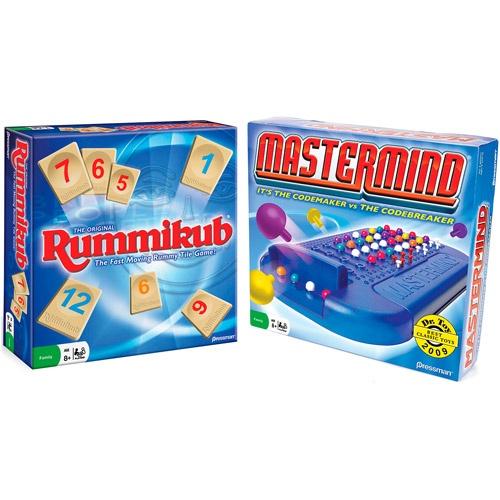 Rummikub and Mastermind Board Games, 2-Pack @ Wal-Mart
