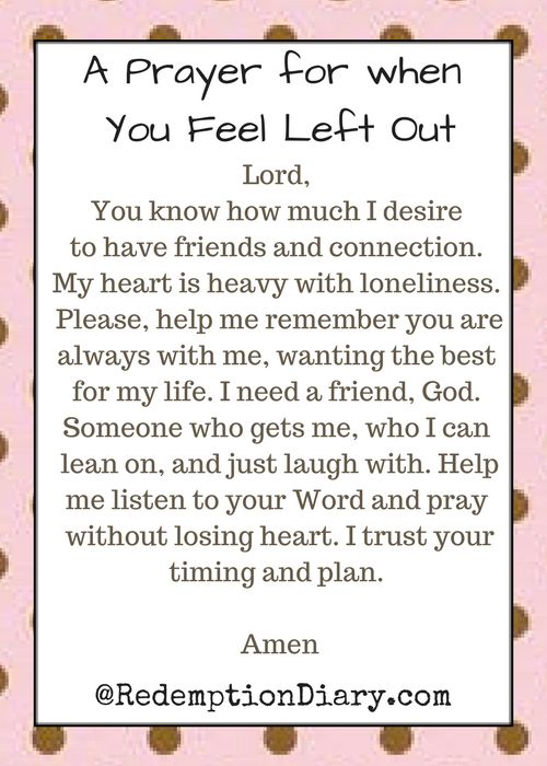 112 best prayers for healing strength images on pinterest a prayer for when you feel left out fandeluxe Choice Image