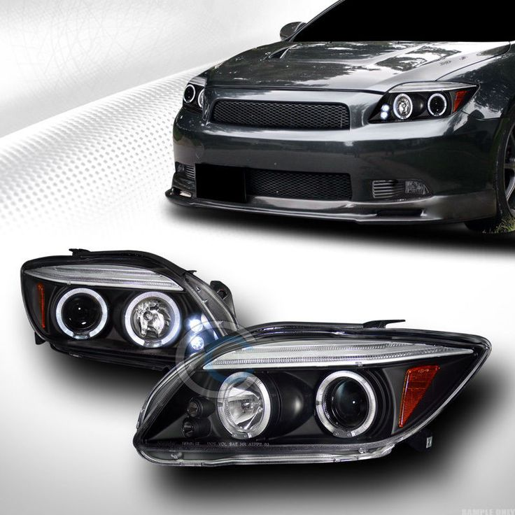 BLK DRL LED DUAL HALO RIMS PROJECTOR HEAD LIGHTS LAMPS SIGNAL 2004-2010 SCION TC in eBay Motors | eBay