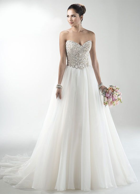 362 best images about beaded wedding dresses on pinterest for Around the neck wedding dresses