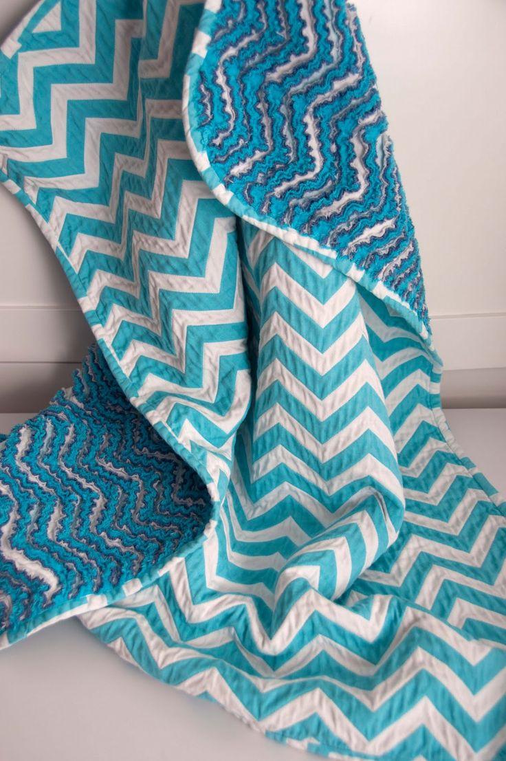 Aesthetic Nest Sewing Chevron Chenille Baby Blanket