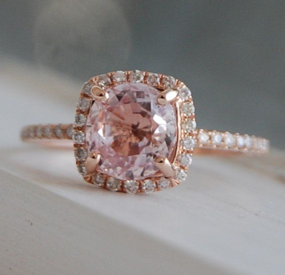 17 Best ideas about Peach Champagne Ring on Pinterest | Champagne  engagement rings, Peach diamond ring and Blush diamond rings