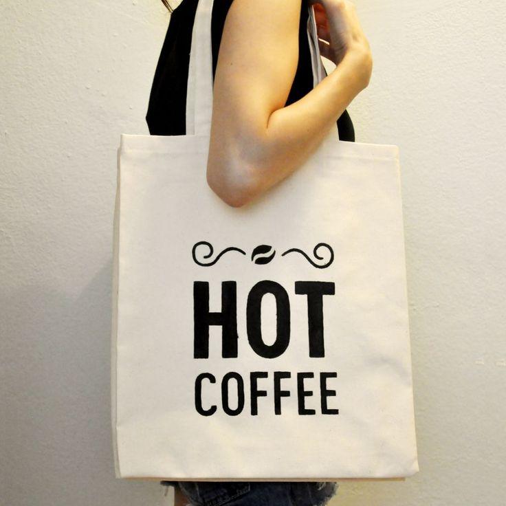 Hot Coffee / El Yapımı Bez Çanta Zet.com'da 70 TL