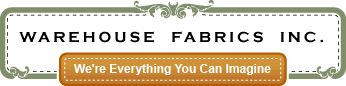Warehouse Fabrics Inc (blue burlap for dresser front makeover + many other fabrics & trims).