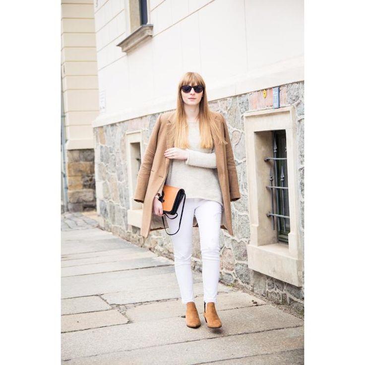neutrals & camel coat by clarabour