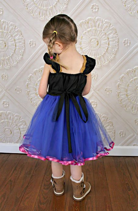 ANNA TUTU DRESS This is a fun new princess tutu dress for your little girl. This dress has a sweetheart neckline, inset details, cute