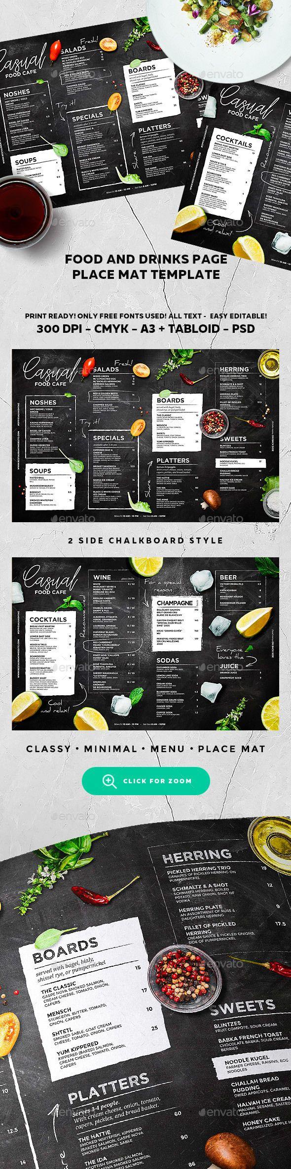 #Menu #Template - #Food Menus Print Templates Download here:  https://graphicriver.net/item/menu-template/19547900?sref=alena994
