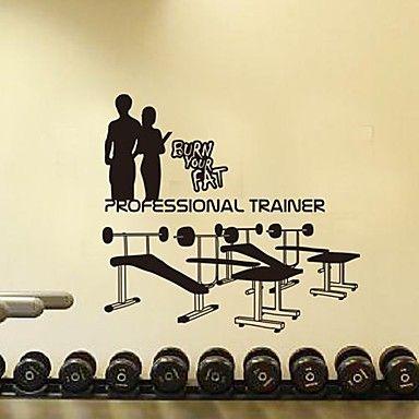 muurstickers muur stickers, moderne fitnessruimte fitnessapparatuur sport cijfers pvc muurstickers 2015 – €26.86