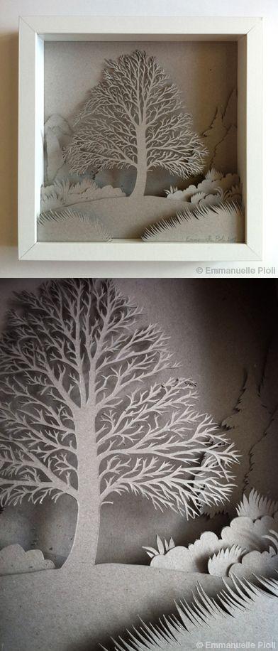 Tableau en papier découpé.   © Emmanuelle Pioli