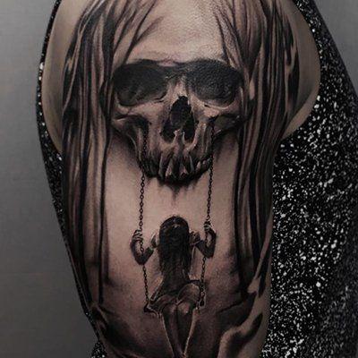 Ultimate List Of Halloween Tattoos Skull Sleeve Tattoos