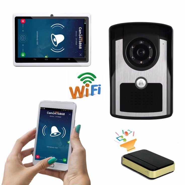 "Portable wifi video intercom video door phone door camera wireless interfone 7"" Android Tablet PC include low price"
