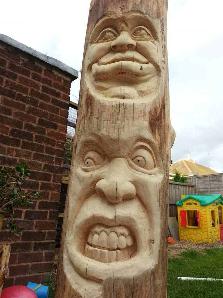Best tiki wood carving images on pinterest tree