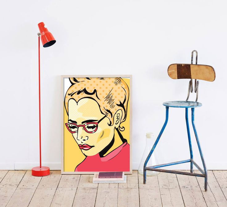 Pop art στο στυλ σας!  Πίνακας σε καμβά: http://www.houseart.gr/select_use.php?id=303&pid=12811  #houseart #popart #style #woman #colors #decoration #design