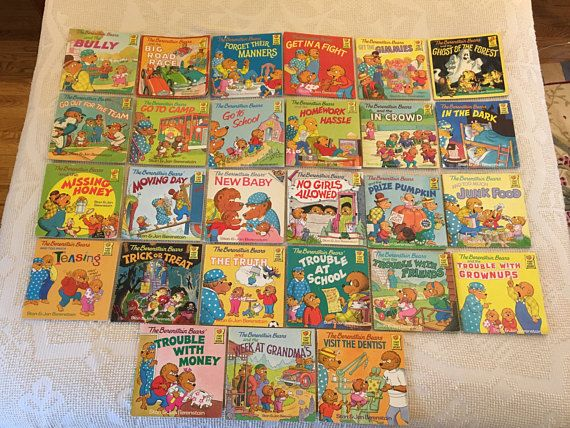 Set of 27 Vintage Berenstain Bear paperback books