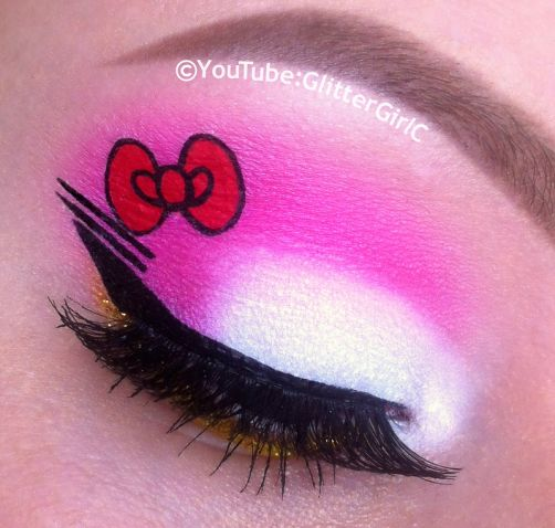 Hello Kitty makeup look. YouTube channel: https://www.youtube.com/user/GlitterGirlC