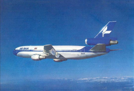 Air Siam was an airline based in Thailand which operated from 1965 until 1976. In 1974, Air Siam purchased a single Douglas DC-10-30, to be used on the Bangkok–Los Angeles route —