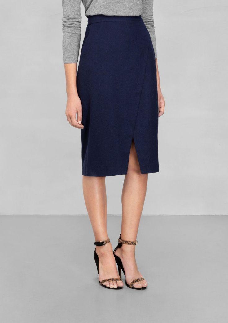 & Other Stories   Wool-Blend Skirt