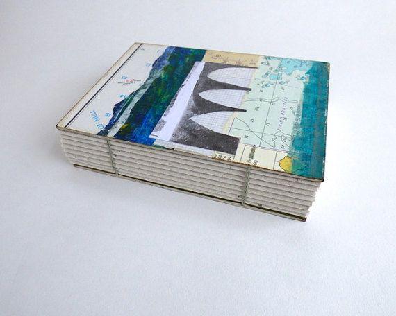 Chunky Journal Notebook or Sketchbook  A6 blank by JoannaCaskie