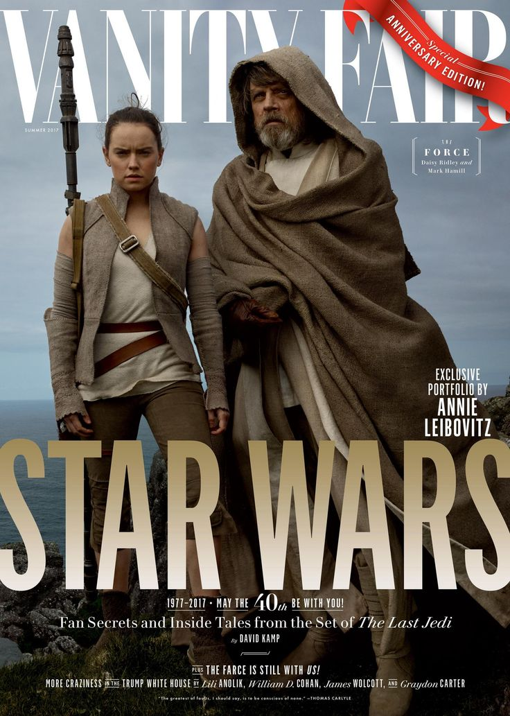 As the Star Wars franchise prepares to celebrate its 40th anniversary this week, the next chapter in its saga will be very much front and center, thanks to a bountiful new shoot from the set of Episode VIII, The Last Jedi, by Annie Leibovitz for Vanity Fair. The relationship between Vanity Fair and Star Wars stretches back long ago and far, far away to when Leibovitz captured the cast of The Phantom Menace for the series's return in 1999. The magazine has gone on to document each of the…