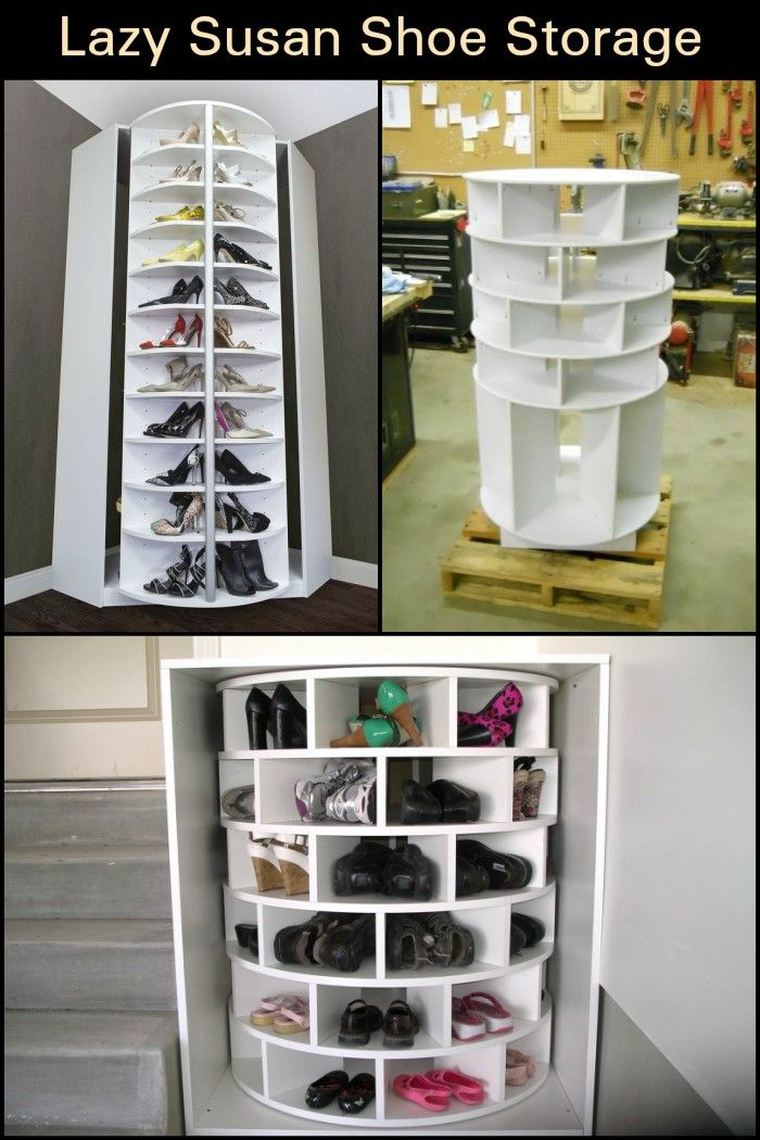This Lazy Susan Shoe Organizer Keeps Your Shoes Neat, Organized, And All In  One Place