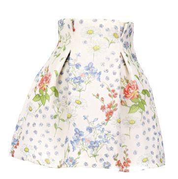 CATERINA GATTA Printed Crepe De Chine Skirt