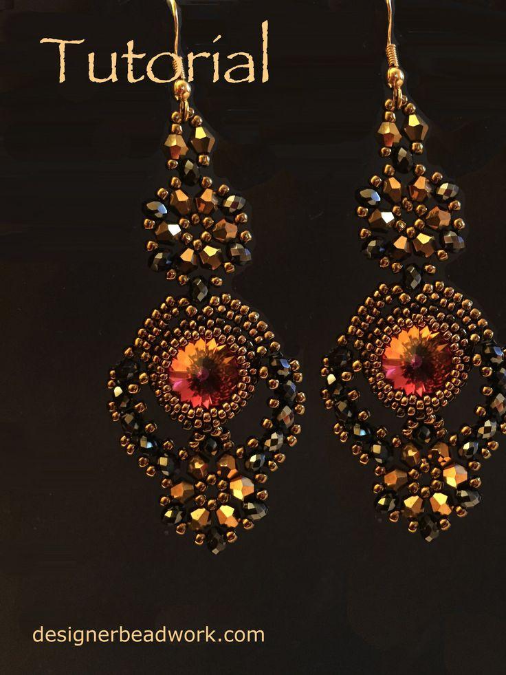 """Comparsita"" #Beads #Earrings #Pendientes #Tutorials"