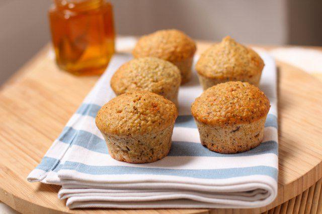 Muffins quinoa, banane et pavot