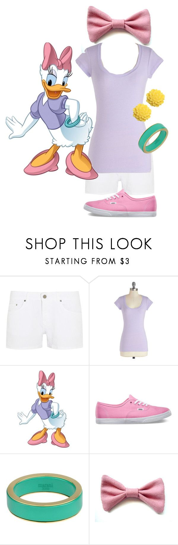 """Daisy Duck"" by chatcat ❤ liked on Polyvore featuring dVb Victoria Beckham, Vans, Dollydagger, Daisy, disney, duck, disneybound and lilac"