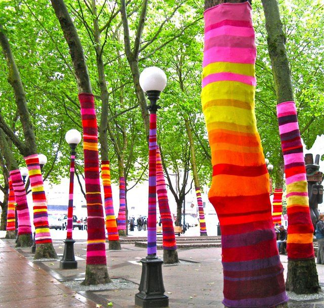 I'm definitley going to begin a yarn bombing society at uni.