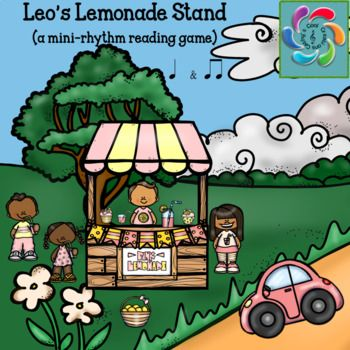 Leo's Lemonade Stand is a rhythm game to help students practice music rhythms and provide teachers an opportunity to assess students in the process.  These rhythms include patterns using quarter notes and double eighth notes.Leo and his friends have lost the lemons they need to make their lemonade.