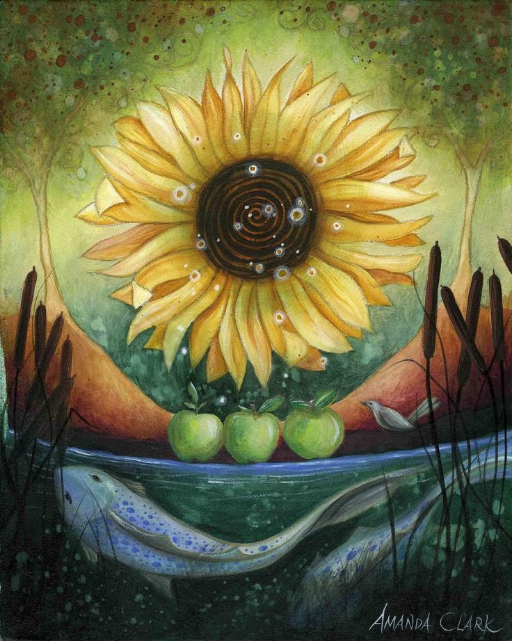 Autumn Equinox.  Art print by Amanda Clark.. £ 18.00, via Etsy.