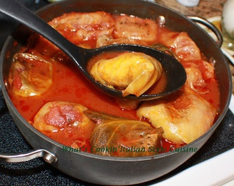 Involtini Di Verza Stuffed Cabbage Roll Recipe La Cucina Italiana De Italiaanse Keuken The Italian Kitchen Cabbage Rolls Recipe Recipes Cabbage Rolls
