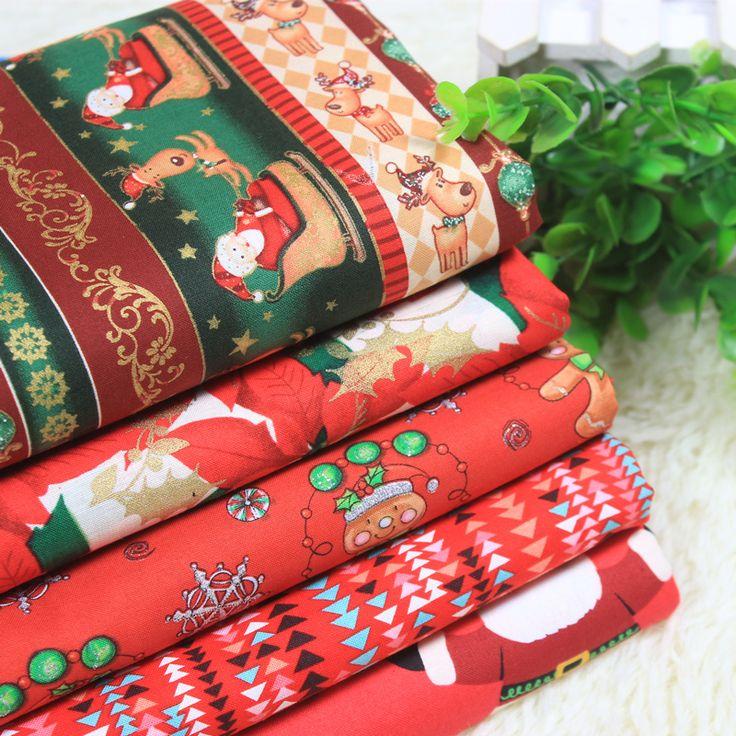 Мультфильм Рождественская Серия хлопчатобумажная ткань, поделки ручной работы лоскутное хлопчатобумажная ткань домашнего текстиля Постельные принадлежности домашний текстиль