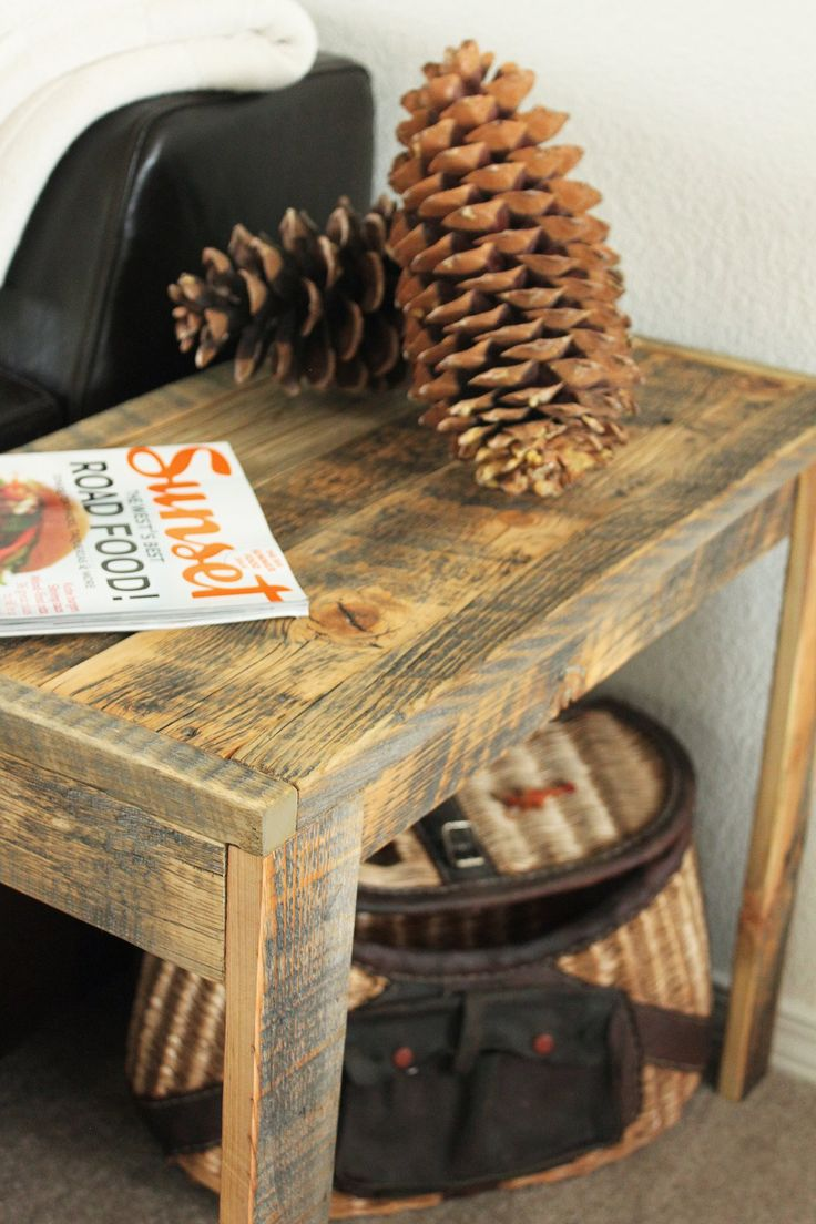 best  wood end tables ideas on pinterest  diy furniture plans  - reclaimed wood solid wood end table  free shipping