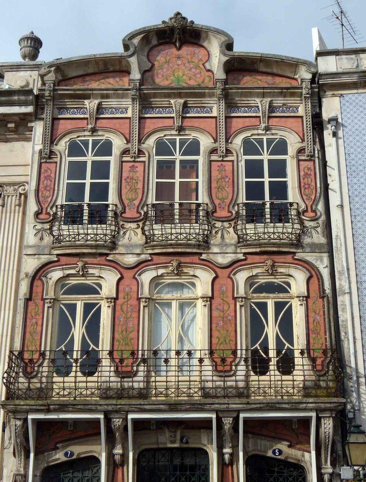 Francisco Augusto da Silva Rocha, probably by (1864-1957). Casa da Cooperativa Agrícola de Aveiro. Beginning of the 20th century. Rua João Mendonça, n.º 5-6-7, Aveiro, Portugal | Photo: 2010 Henrique Matos @ Wikipedia. http://pt.wikipedia.org/wiki/Arte_Nova_em_Portugal