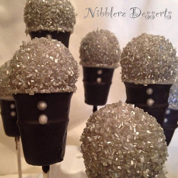 12 Microphone cake pops Musician Music party singer by Nibblerz
