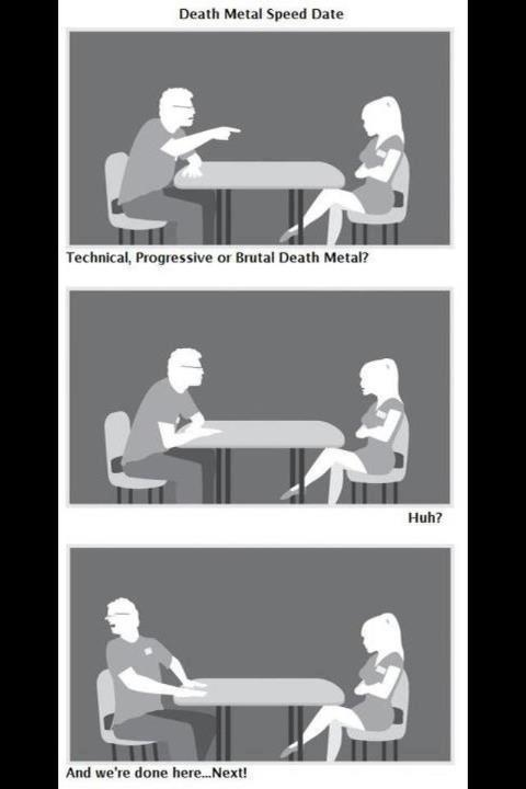 Death metal speed dating