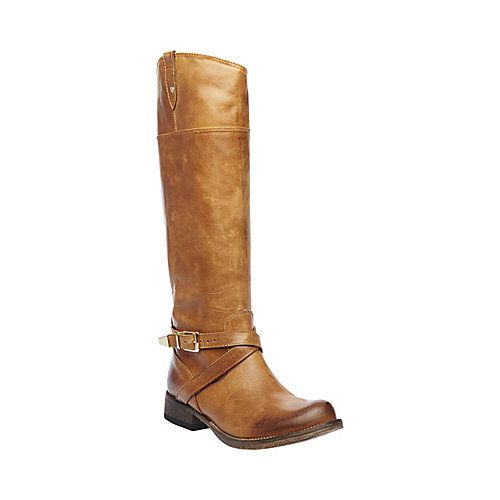 STOCKHLM COGNAC LEATHER women's boot flat casual - Steve Madden