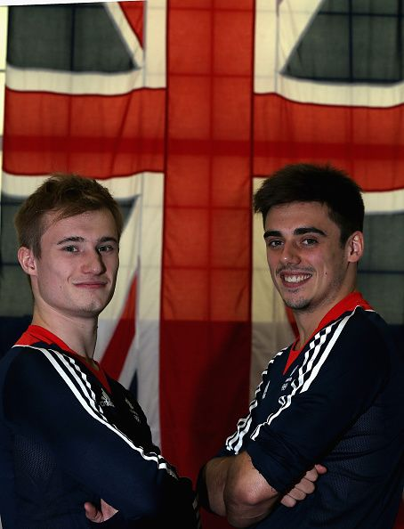 #RIO2016 Jack Laugher and Chris Mears of Britain pose for a picture as the Team GB diving team is announced for the Rio 2016 Olympic Games at the John Charles...